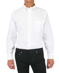 Black Fleece By Brooks Brothers - White Grosgrain Cuffs Oxford Shirt for Men - Lyst