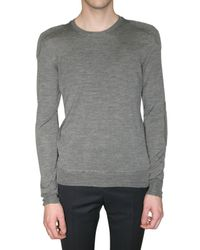 Burberry Prorsum | Gray Wool and Silk-blend Sweater for Men | Lyst