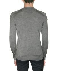 Burberry Prorsum | Gray Wool and Silk-blend Sweater for Men | Lyst