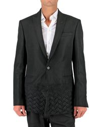 CoSTUME NATIONAL | Black Wool Patch Jacket for Men | Lyst