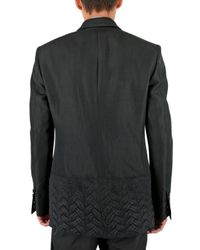 CoSTUME NATIONAL - Black Wool Patch Jacket for Men - Lyst