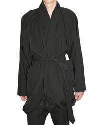 Damir Doma - Black Linen Canvas & Cotton Infinity Coat for Men - Lyst