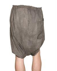 Damir Doma - Natural Cotton Voile Wrap Shorts for Men - Lyst