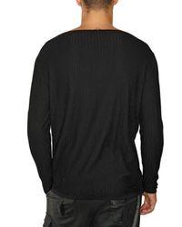 Dead Meat | Black Fishnet Cotton Knit Sweater for Men | Lyst