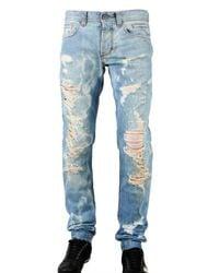 Dolce & Gabbana | Blue 18 Cm Hem Super Destroyed Denim Jeans for Men | Lyst