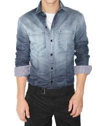 Dolce & Gabbana | Blue Slim Fit Degrade Denim Shirt for Men | Lyst