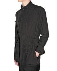 Dior Homme | Black Compact Cotton Canvas Safari Jacket for Men | Lyst