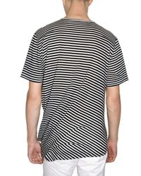 Dior Homme - Black Rayon Blend Striped Jersey T-shirt for Men - Lyst