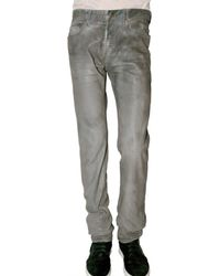 Dior Homme | Gray 19 Cm Waxed Silver Corrosion Jeans for Men | Lyst