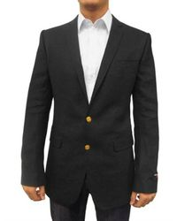 Dolce & Gabbana | Black Two Gold Button Linen Martini Jacket for Men | Lyst