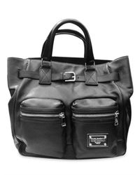 Dolce & Gabbana | Black Washed Nappa Top Handle | Lyst