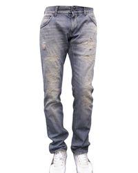 Dolce & Gabbana | Blue 19 Cm Hem Distressed Deni Jeans for Men | Lyst