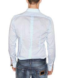 Dolce & Gabbana - Blue Gold Fit Cotton Voile Shirt for Men - Lyst