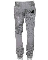 Dolce & Gabbana - Gray 19cm Gold Dirty Gabardine Trousers for Men - Lyst