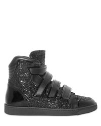 DSquared² | Black Glitter High Sneakers for Men | Lyst