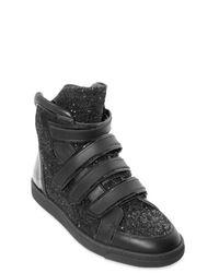 DSquared² - Black Glitter High Sneakers for Men - Lyst