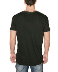 DSquared² - Black Open Front Jersey T-shirt for Men - Lyst