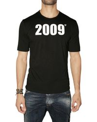 DSquared² | Black Reversible Goodbye Welcome T-shirt for Men | Lyst