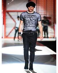 DSquared² - Black Transparent Alpaca and Silk T-shirt for Men - Lyst