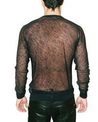 DSquared² | Black Transparent Knit Sweater for Men | Lyst