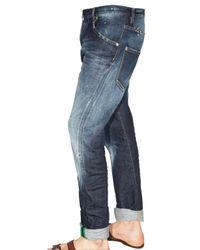 DSquared² - Blue 18cm Flags Stretch Denim Kenny Jeans for Men - Lyst