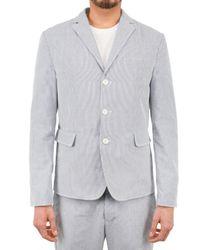 DSquared² | Blue Pinstripe Seersucker Jacket for Men | Lyst