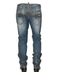DSquared² | Blue Semi Coated Slim Denim Jeans for Men | Lyst