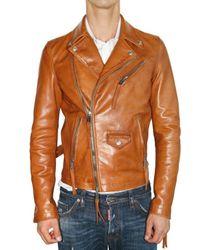 DSquared² | Orange Horse Leather Kiodo Bomber Leather Jacke for Men | Lyst