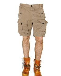DSquared²   Brown Light Twill Military Bermuda Shorts for Men   Lyst