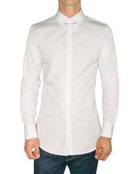 DSquared² | White Pin Collar Poplin Slim Shirt for Men | Lyst