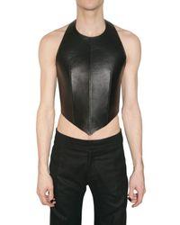 Gareth Pugh | Black Leather Neoprene Top for Men | Lyst