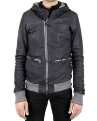 Giorgio Brato - Black Hooded Nappa Leather Jacket for Men - Lyst
