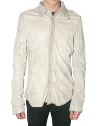 Giorgio Brato - White Washed Lambskin Shirt Leather Jacket for Men - Lyst