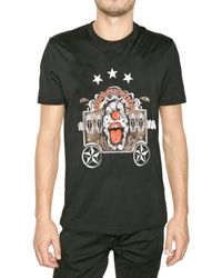 Givenchy | Black Clown Jersey T-shirt for Men | Lyst