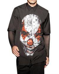 Givenchy | Black Clown Printed Poplin Shirt for Men | Lyst