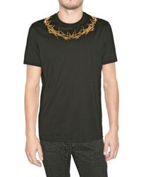 Givenchy | Black Crown Jersey T-shirt for Men | Lyst