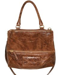 Givenchy | Brown Pandora Small Texture Washed Top | Lyst