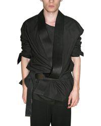 Haider Ackermann | Black Cotton Poplin Kimono Style Shirt for Men | Lyst