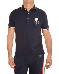 Hydrogen | Blue Italy Skull Piquet Cotton Polo for Men | Lyst