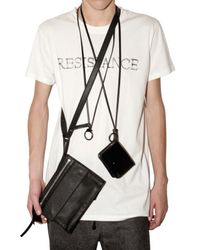 Kris Van Assche | Black Calf Shoulder Bag for Men | Lyst
