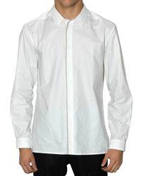 Kris Van Assche | White Grey Jersey Piping Poplin Shirt for Men | Lyst