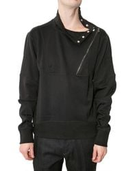 Neil Barrett | Black Bonded Zip Collar Fleece Sweatshirt for Men | Lyst