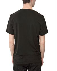 Neil Barrett | Black Embroidery Barbed Wire Tencel T-shirt for Men | Lyst