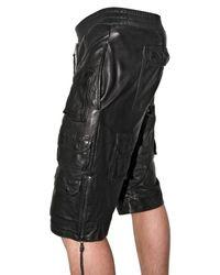 Neil Barrett | Black Leather Trousers for Men | Lyst
