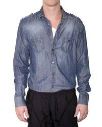 Neil Barrett | Blue Denim Shirt for Men | Lyst