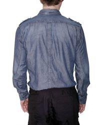 Neil Barrett - Blue Denim Shirt for Men - Lyst