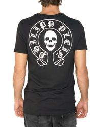 Philipp Plein - Black Skull Patch Embroidery Jersey T-shirt for Men - Lyst