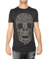 Philipp Plein | Black Svarowsky Skull Jersey T-shirt for Men | Lyst
