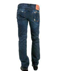 PRPS | Blue Dirt Contrast Wash Stitch Detail Bootcut Jeans for Men | Lyst