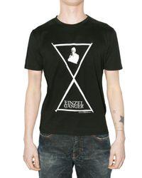Raf Simons | Black Einzel Ganger Jersey T-shirt for Men | Lyst